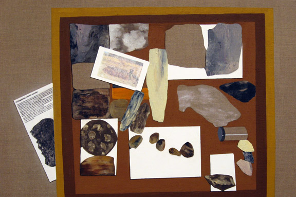 <h3>Dyke Rocks, 2008</h3> 				<h4>Oil, gesso and image transfer on linen</h4> 				<h4>20 x 30 inches</h4>
